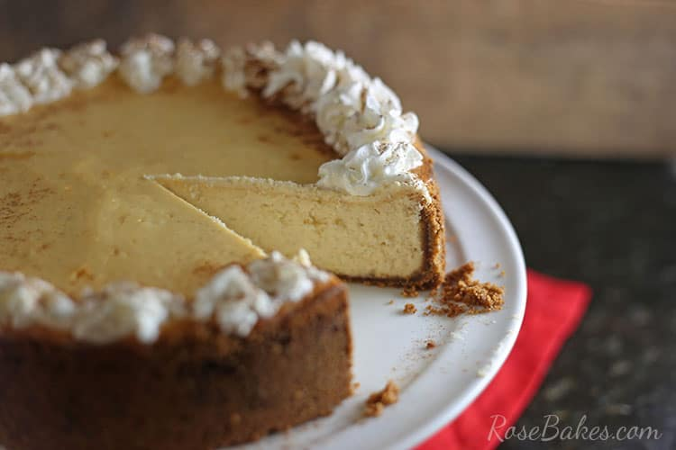 Eggnog Cheesecake with Gingersnap Crust & Reddi-Wip Topping