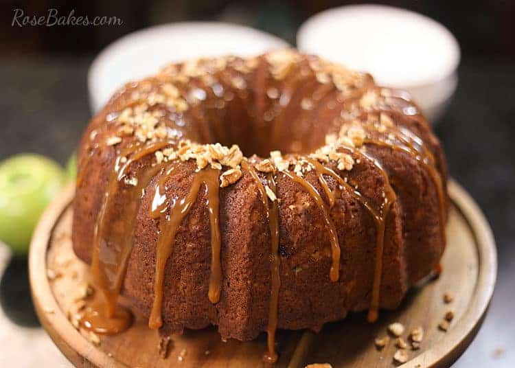 Fresh Apple Cake With Caramel And Pecans Rose Bakes