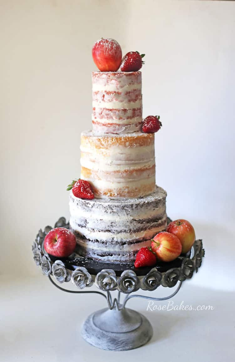 Behance - Fresh Fruit Wedding Cake