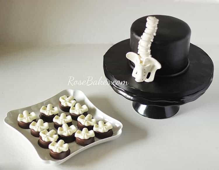 Spine Cake & Cookies by Rose Bakes