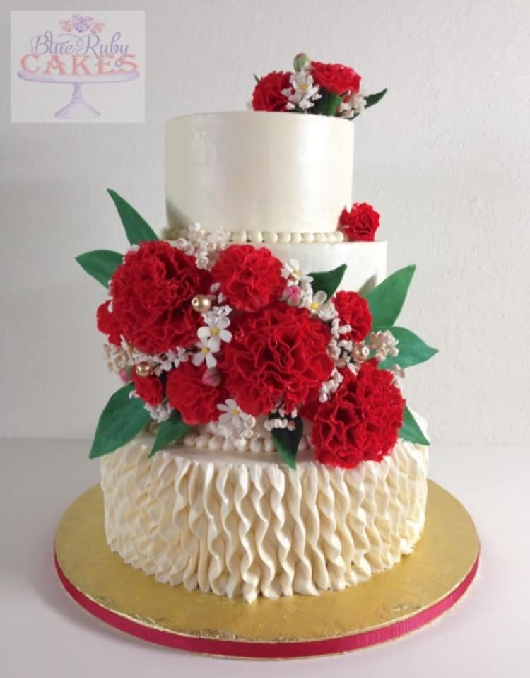 Carnation Ruffle Cake