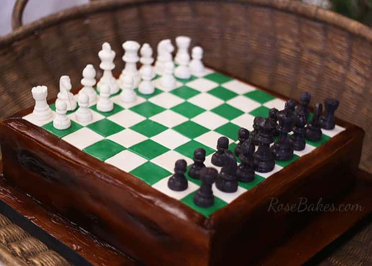 Chess Decorated Cake