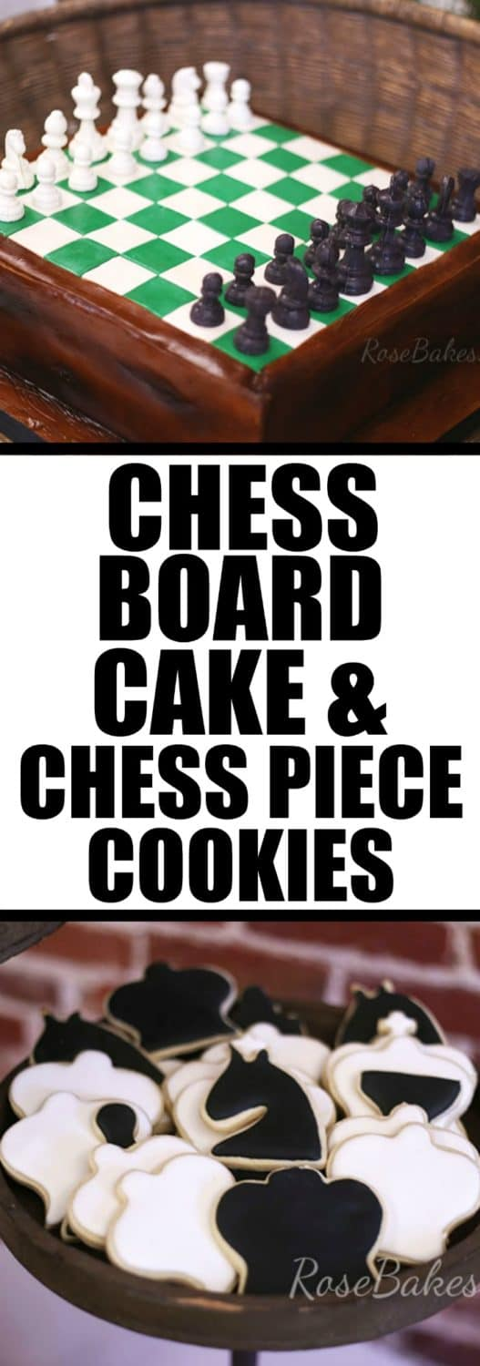 chess-board-cake-chess-piece-cookies