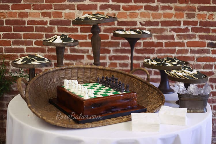chess-board-cake-and-chess-pieces-cookies