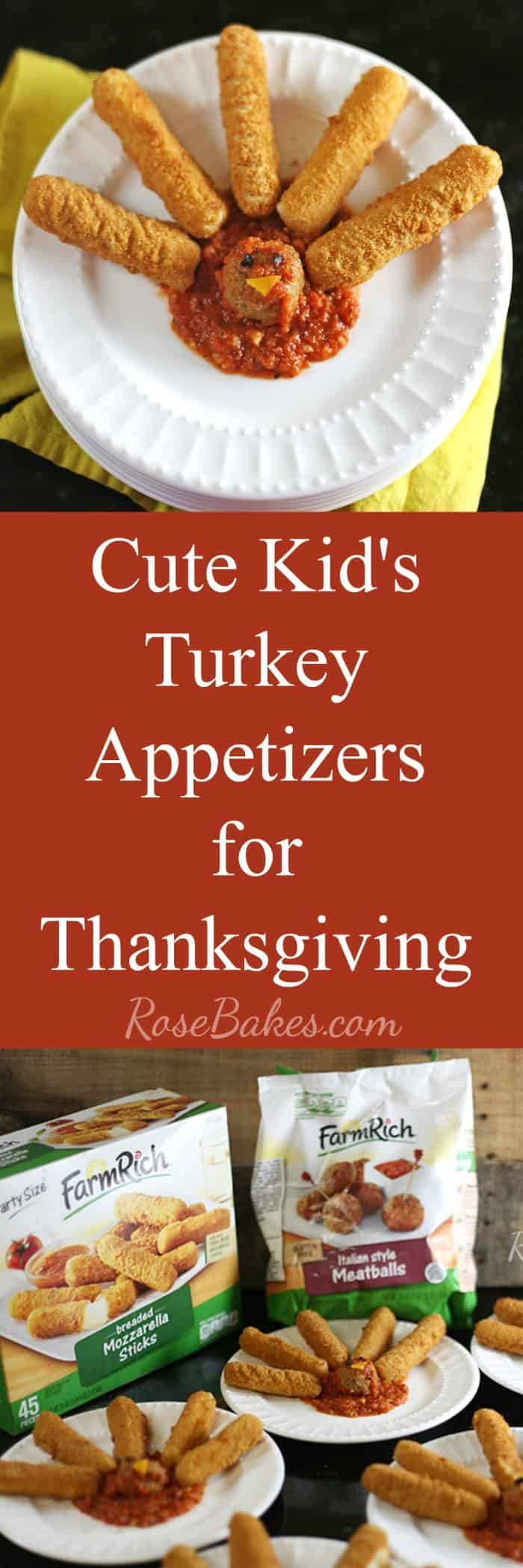 Easy Kids Thanksgiving Appetizers with Homemade Marinara by Rose Bakes