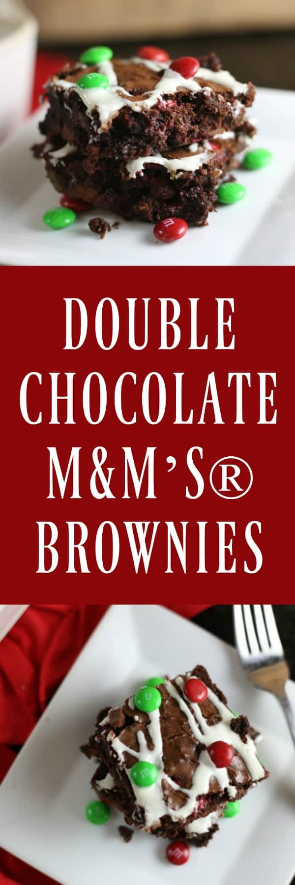 Double Chocolate M&M'S® Brownies by RoseBakes.com #ad #CollectiveBias #BakeintheFun