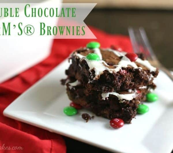 Double Chocolate M&M'S® Brownies by RoseBakes.com