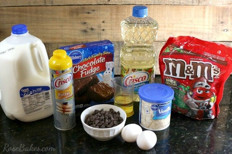 double-chocolate-mms-brownies-ingredients
