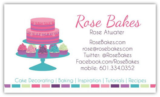 Rose Bakes Business Cards
