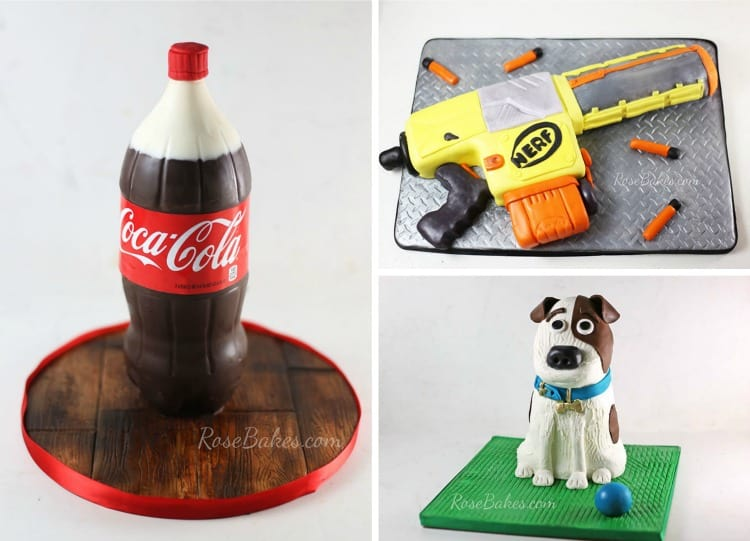 3 Carved 3D Cakes