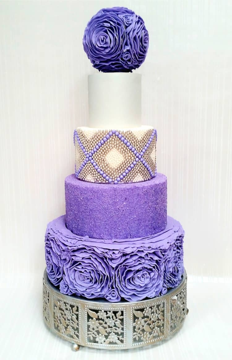 Ruffle Me Purple Cake