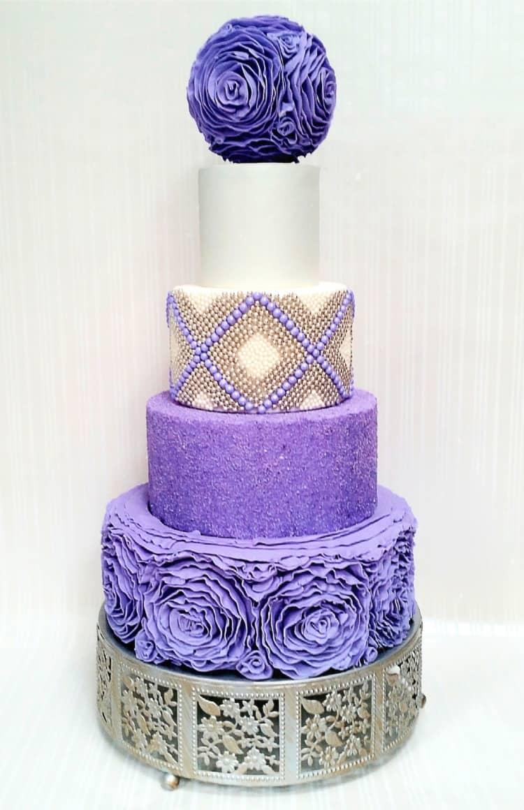 Ruffle Me Purple Cake