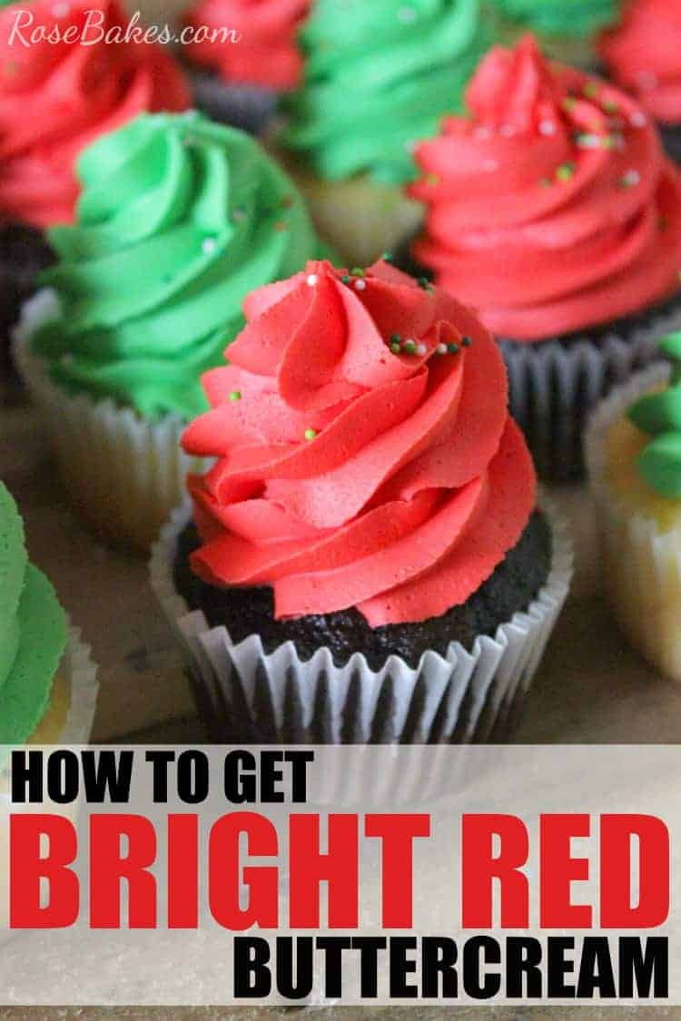 How to Get Bright Red Buttercream Tips