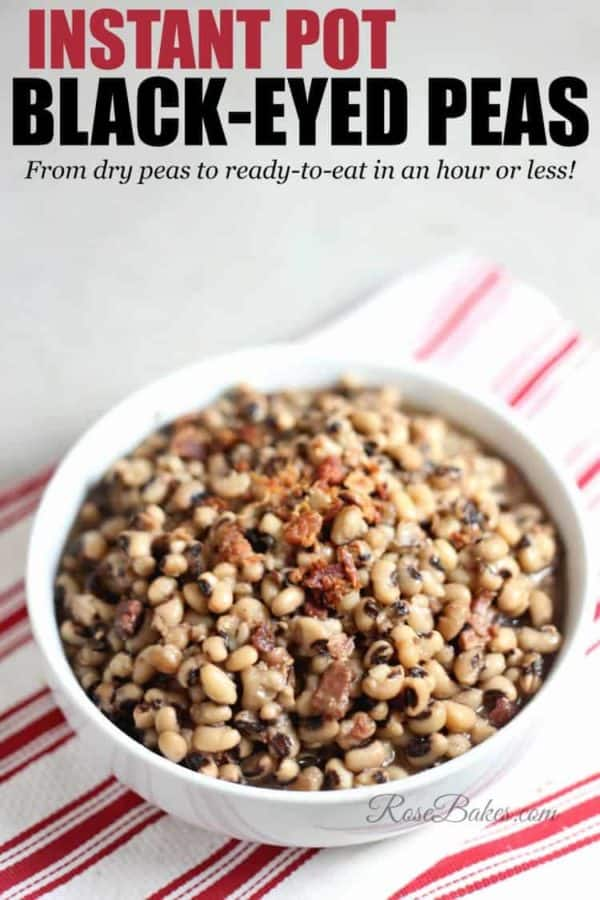 Instant Pot Black-Eyed Peas by Rose Bakes