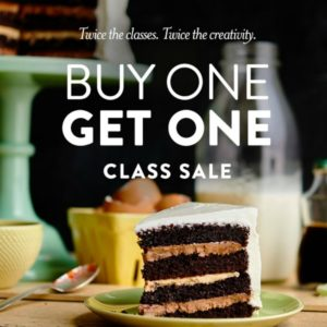 Buy One Cake Decorating Class, Get One FREE!