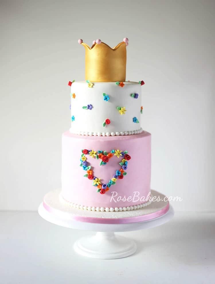 Floral Heart Princess Cake Amp Heart Cake Pops Rose Bakes