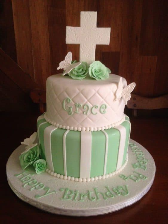 Baptism Birthday Cake