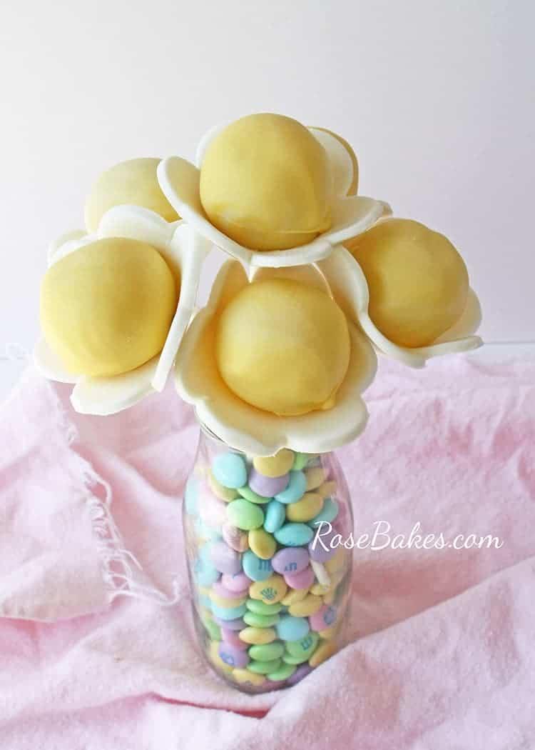 spring flower cake pops rose bakes. Black Bedroom Furniture Sets. Home Design Ideas