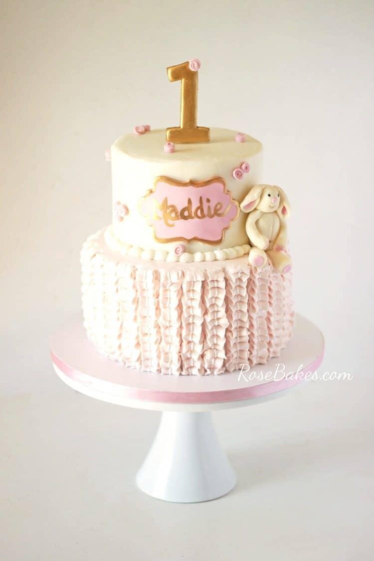 Bunny First Birthday Cake