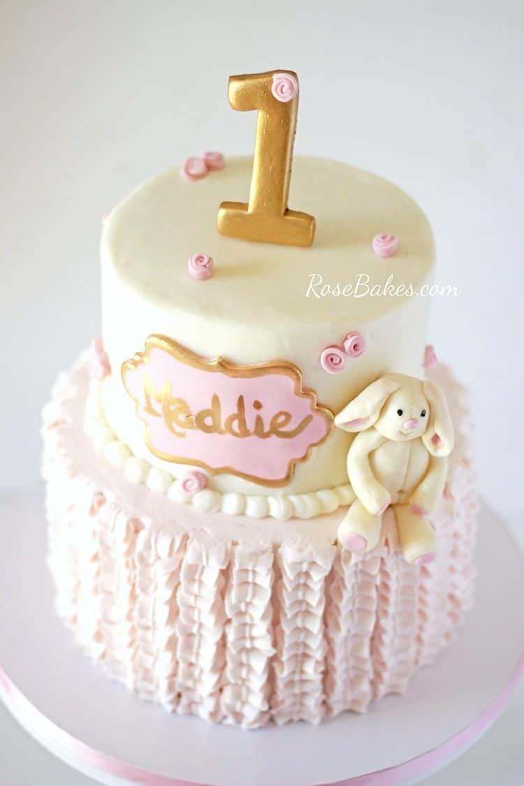 Bunny 1st Birthday Cakes Rose Bakes