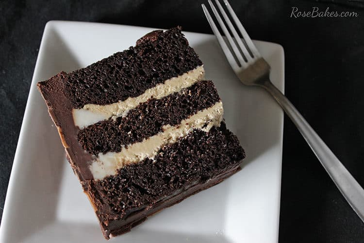 Chocolate Cake with Creamy Peanut Butter Frosting