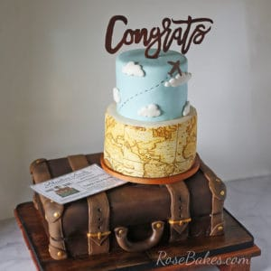 A Surprise Retirement Party for My Parents (A Travel / Suitcase Themed Retirement Cake)