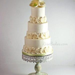 A Tiny Wedding Cake + a Gorgeous Cake Stand