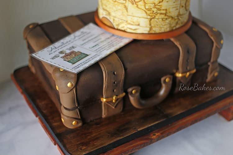 Travel / Suitcase Themed Retirement Cake