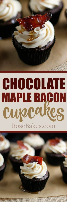 chocolate maple bacon cupcakes