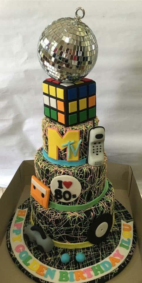 80's inspired cake