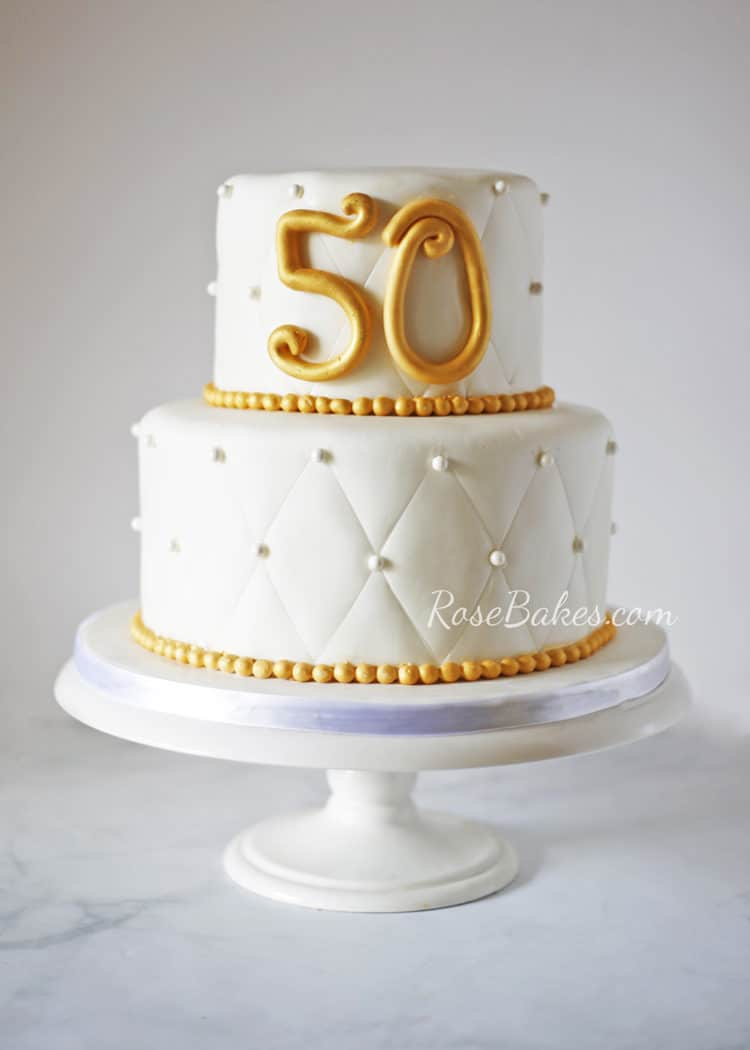 50th Wedding Anniversary Cake - Rose Bakes