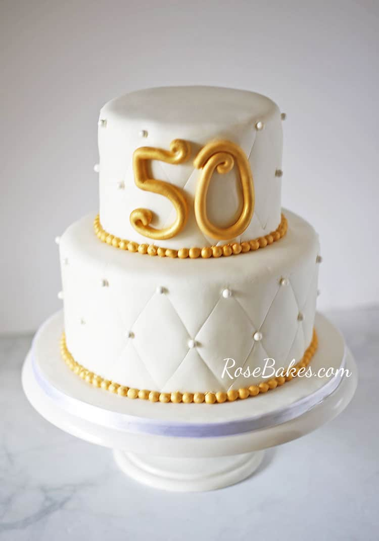 50th Wedding Anniversary Cake Rose Bakes