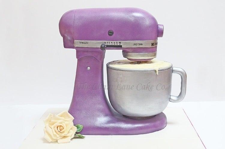 Purple Kitchenaid Mixer Cake