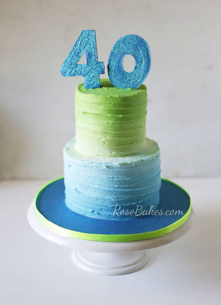 Line Texture Cake : How to make lines texture on buttercream cakes rose bakes