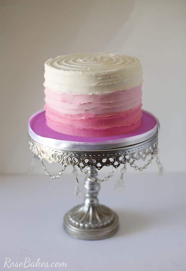 How To Make Lines Texture On Buttercream Cakes Rose Bakes