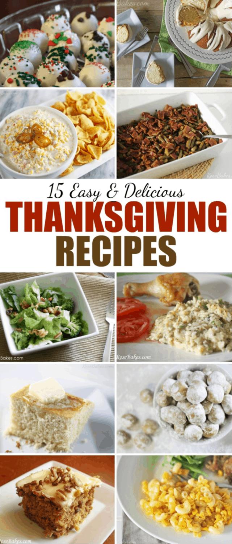 15 Easy & Delicious Thanksgiving Recipes