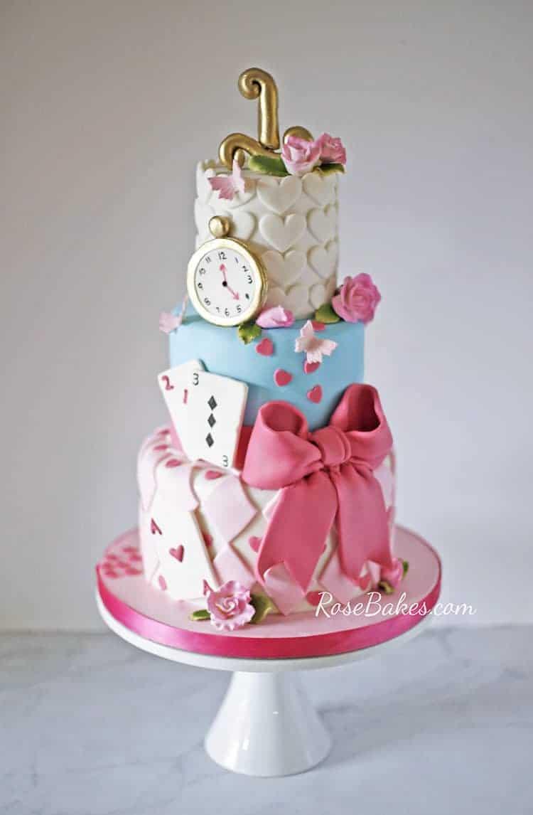Wonderland Birthday Cake