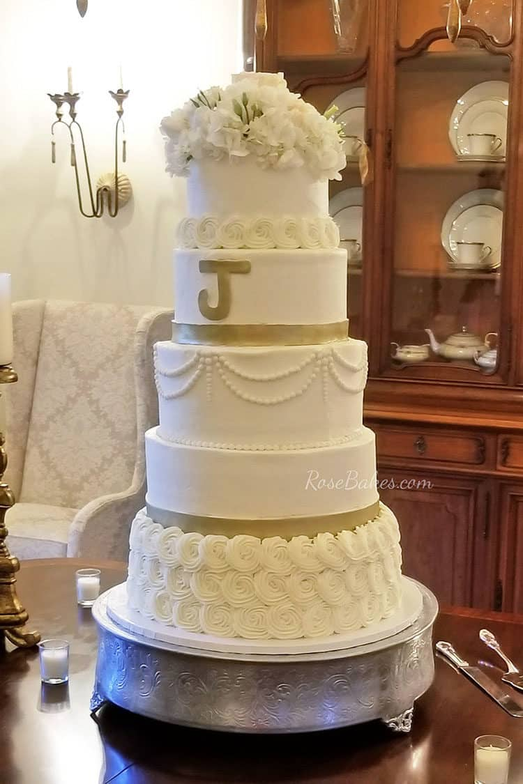 The 6 tier buttercream wedding cake that wasn\'t meant to be. - Rose ...