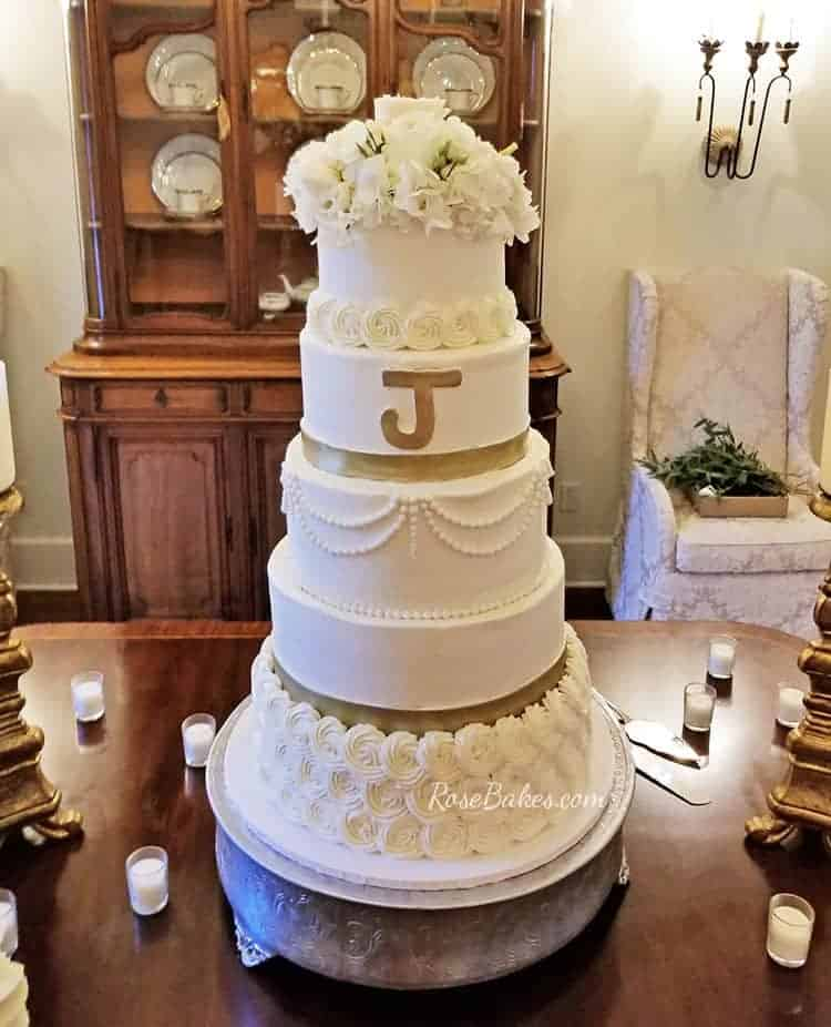 The 6 tier buttercream wedding cake that wasn't meant to be