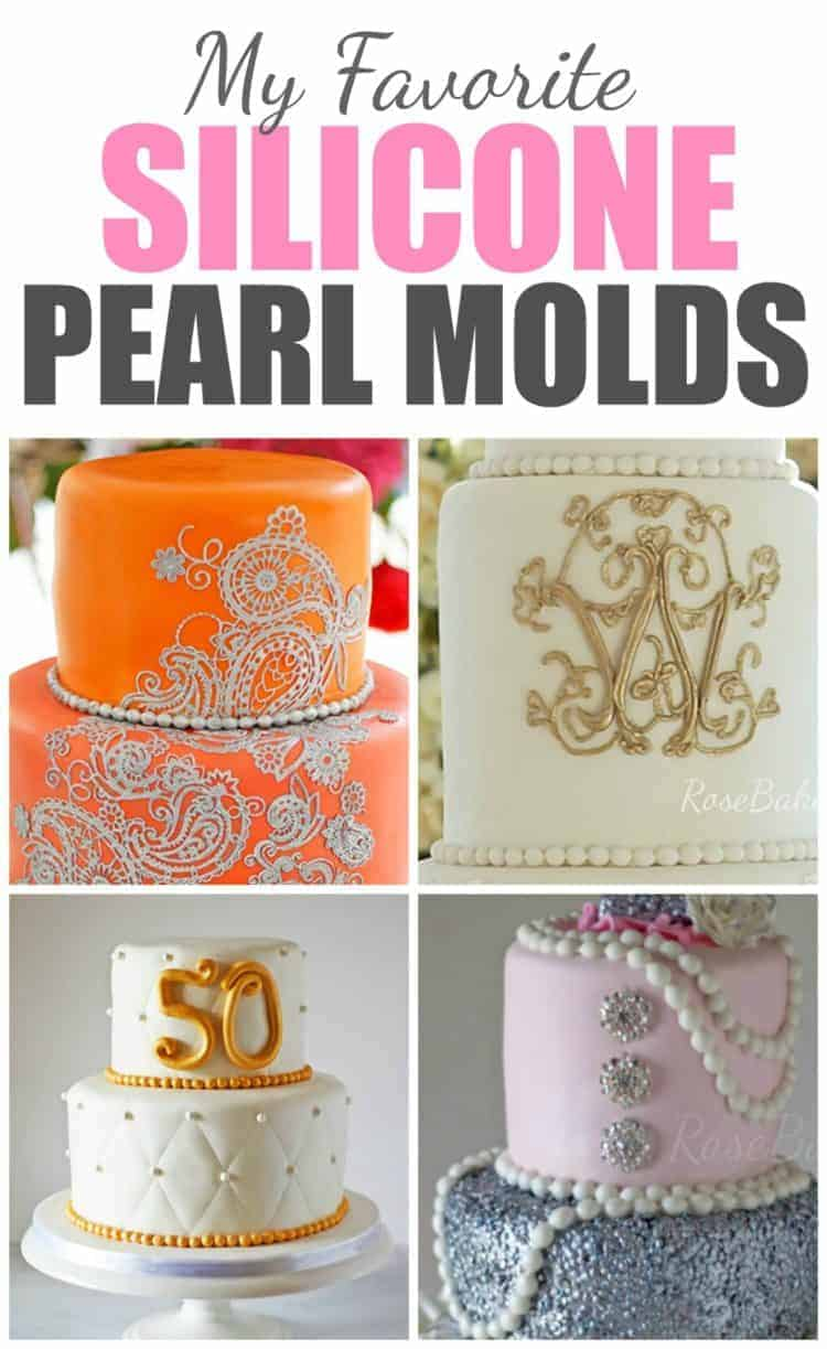 My Favorite Silicone Pearl Molds (Fondant Pearls) - Rose Bakes