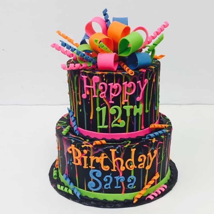 Splatter Cake by WTTC Winner HallieCakes