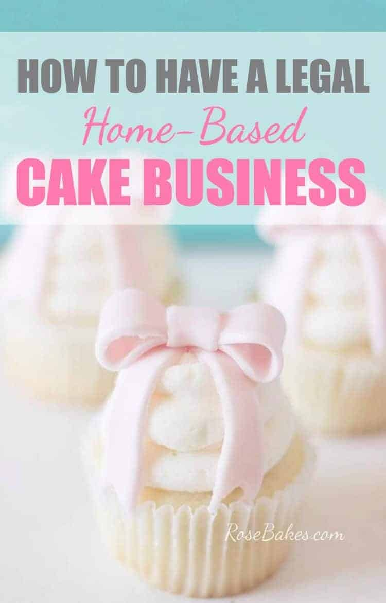 How to Have a Legal Home Based Cake Business Image with Cupcake with a Pink Bow Topper