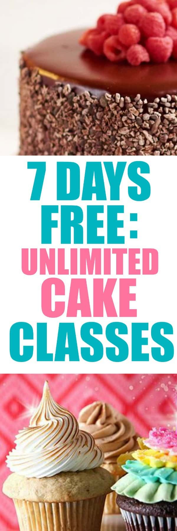 7 Day Free Trial to Unlimited Cake Classes
