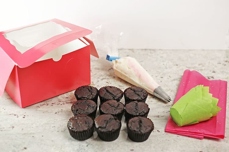 cupcake bouquet supplies needed for making cupcake bouquets for valentines day or mothers day