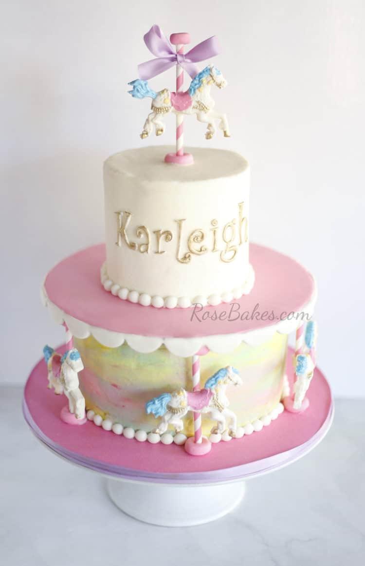 Carousel Cake Rose Bakes