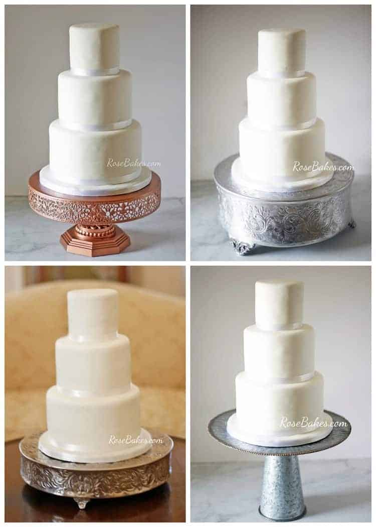 white wedding cake stands simple white wedding cake on different cake stands 1362