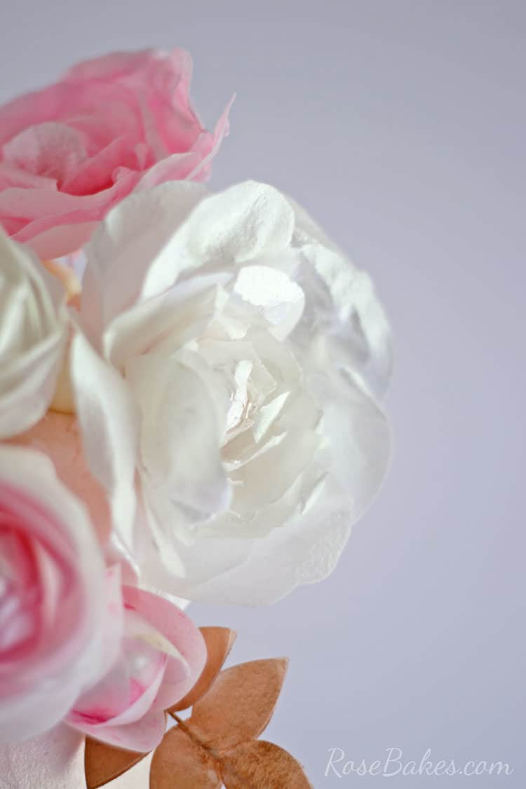 Wafer Paper Flowers Cake Topper