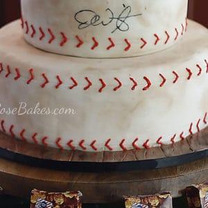 Baseball Groom's Cake with Cracker Jacks
