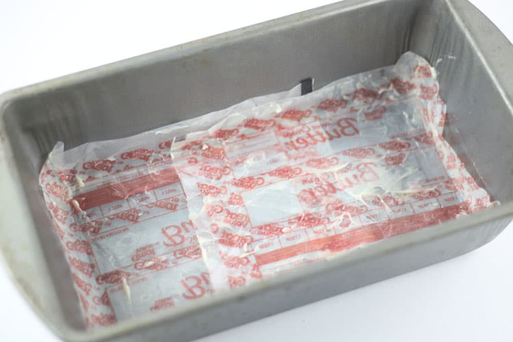 butter wrappers lining baking pan