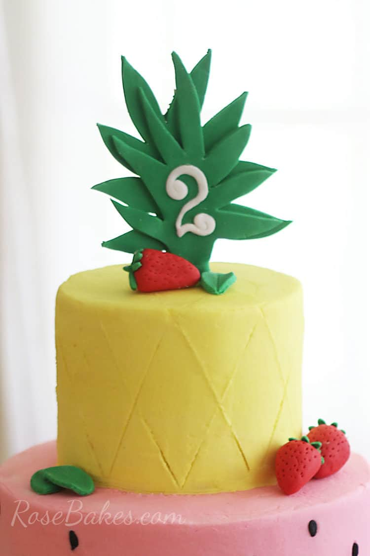 Pineapple Cake Topper on Tutti Frutti Cake